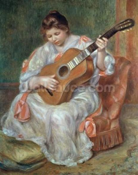 The Guitar Player, 1897 (oil on canvas) wallpaper mural