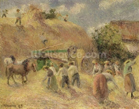 The Harvest, 1883 wall mural