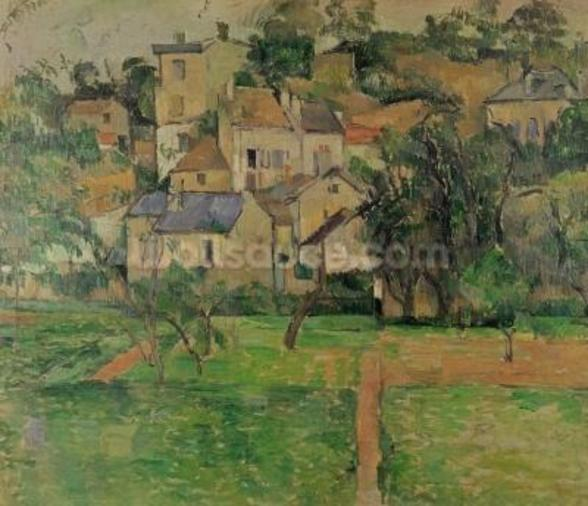 The Hermitage at Pontoise, 1884 (oil on canvas) mural wallpaper