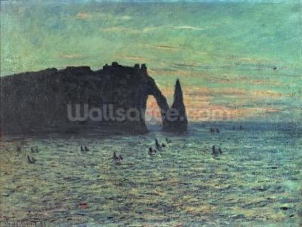 The Hollow Needle at Etretat, 1883 (oil on canvas) wall mural