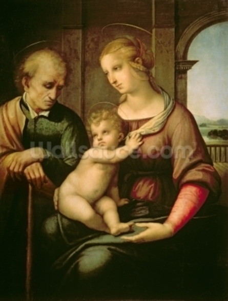 The Holy Family, 1506 (oil on canvas) wall mural