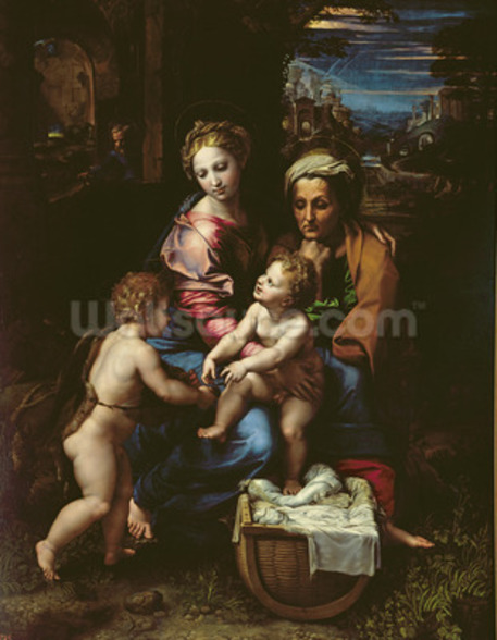 The Holy Family (La Perla) c.1518 (oil on panel) wall mural