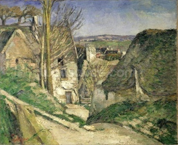 The House of the Hanged Man, Auvers-sur-Oise, 1873 (oil on canvas) (for details see 67878 & 67879) wall mural
