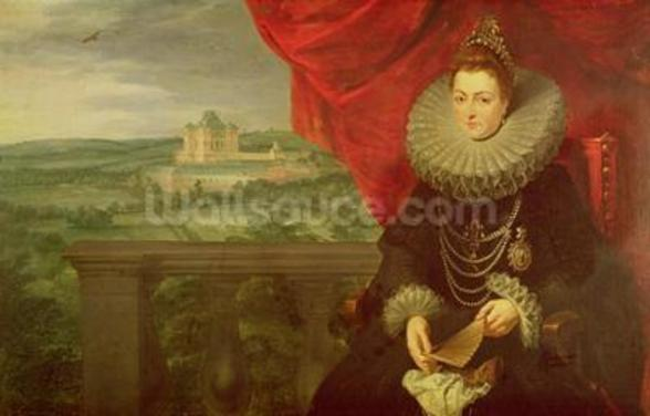 The Infanta Isabella Clara Eugenia (1566-1633) (oil on canvas) (pair of 197174) wall mural