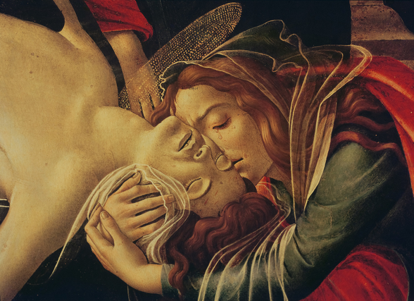 The Lamentation of Christ, c.1490 (oil on panel) (detail of 604) wall mural