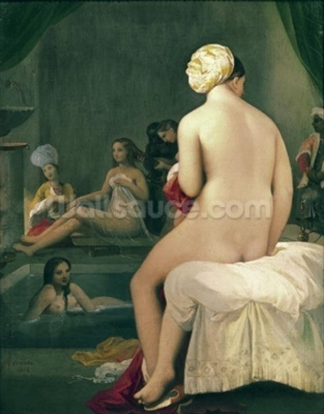 The Little Bather in the Harem, 1828 (oil on canvas) wallpaper mural