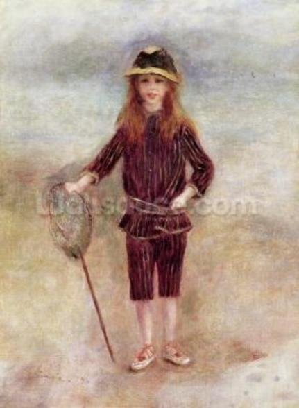 The Little Fisherwoman (Marthe Berard) 1879 (oil on canvas) wall mural