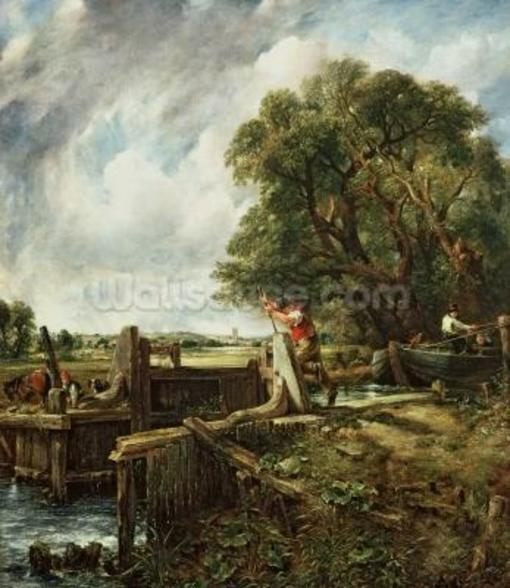The Lock, 1824 (oil on canvas) wallpaper mural