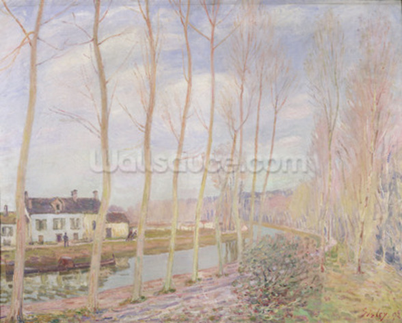 The Loing Canal, 1892 (oil on canvas) mural wallpaper
