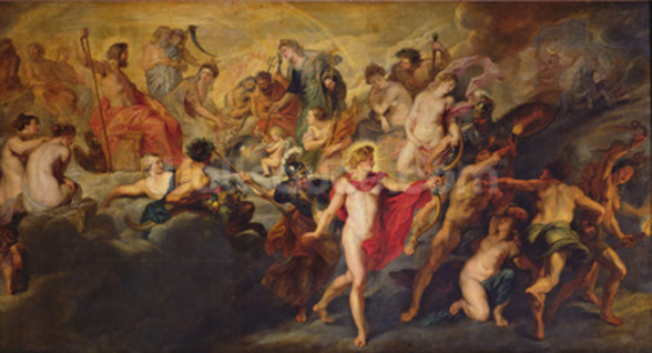 The Medici Cycle: Council of the Gods for the Spanish Marriage, 1621-25 (oil on canvas) wall mural