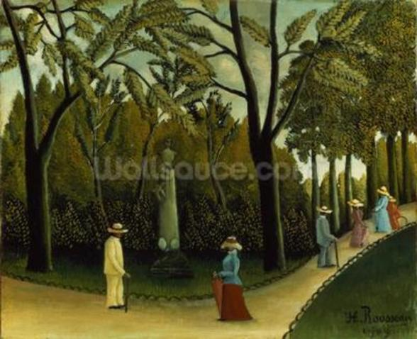 The Monument to Chopin in the Luxembourg Gardens, 1909 (oil on canvas) wall mural