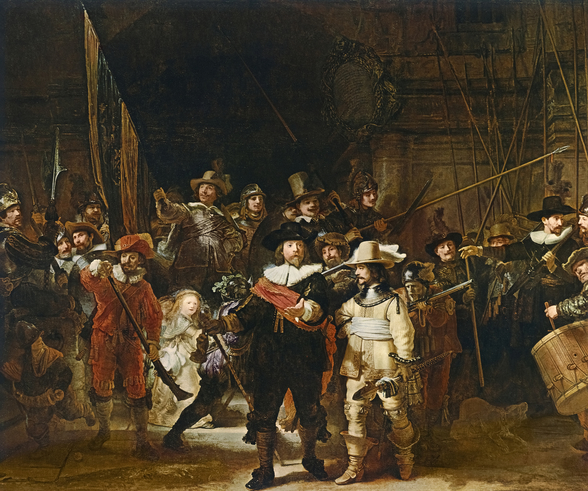 The Nightwatch (colour litho) wall mural