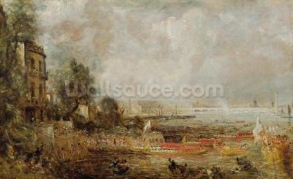 The Opening of Waterloo Bridge, c.1829-31 (oil on canvas) wall mural