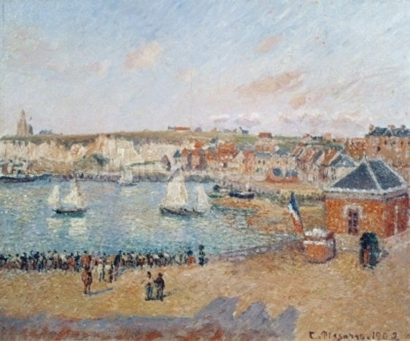 The Outer Harbour at Dieppe, 1902 (oil on canvas) wallpaper mural