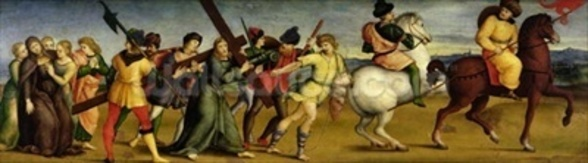 The Procession to Calvary, c.1504-05 (oil on wood) wall mural