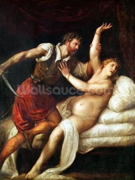 The Rape of Lucretia (oil on canvas) wall mural