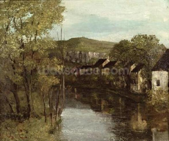 The Reflection of Ornans, c.1872 (oil on canvas) mural wallpaper
