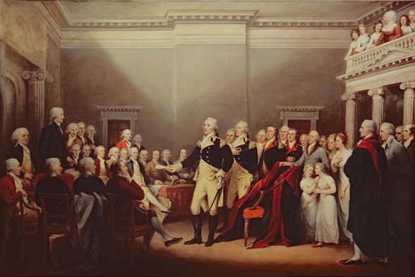 The Resignation of George Washington on 23rd December 1783, c.1822 (oil on canvas) wallpaper mural