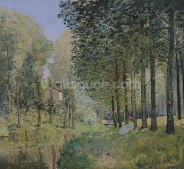 The Rest by the Stream. Edge of the Wood, 1872 (oil on canvas) wall mural