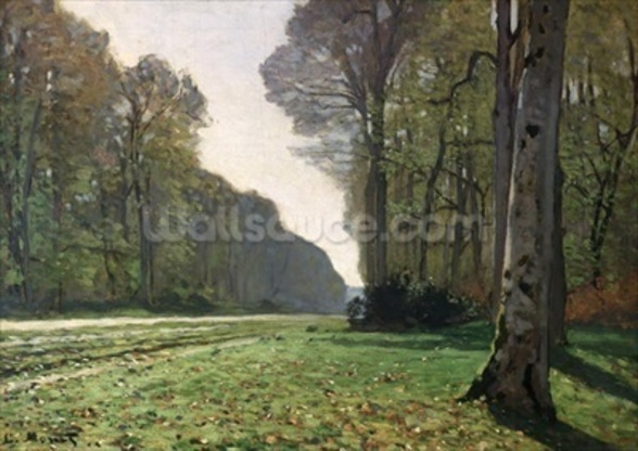 The Road to Bas-Breau, Fontainebleau (Le Pave de Chailly), c.1865 (oil on canvas) wallpaper mural