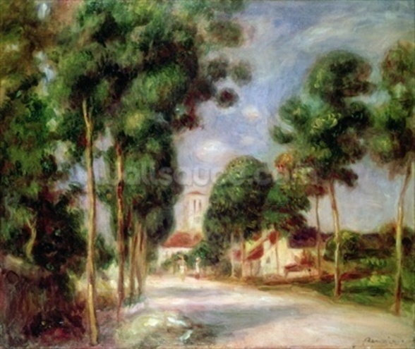 The Road to Essoyes, 1901 (oil on canvas) wall mural
