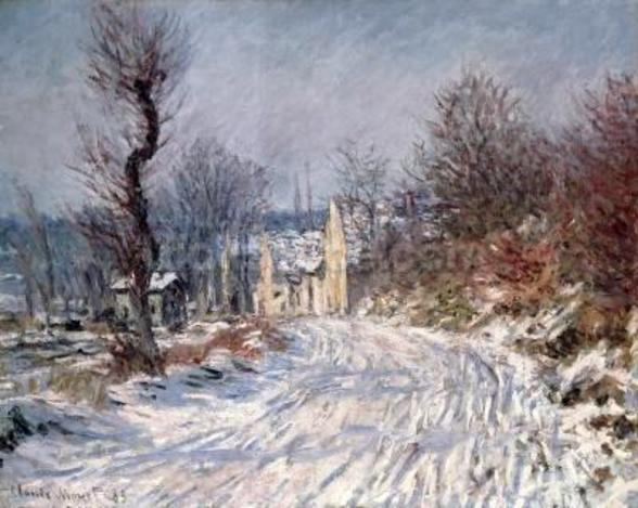 The Road to Giverny, Winter, 1885 mural wallpaper