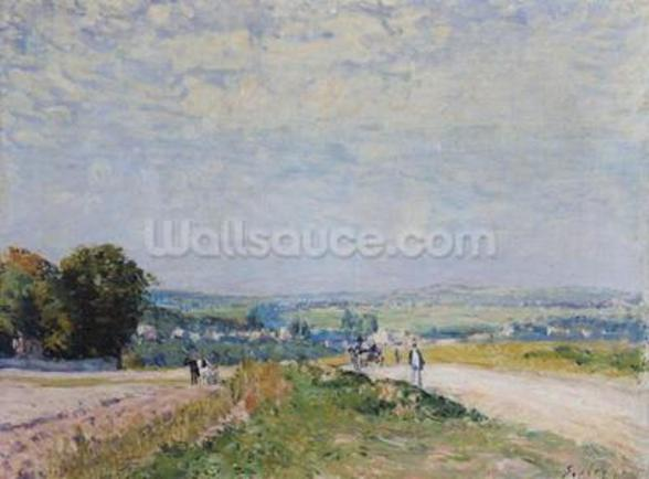 The Road to Montbuisson at Louveciennes, 1875 (oil on canvas) wall mural