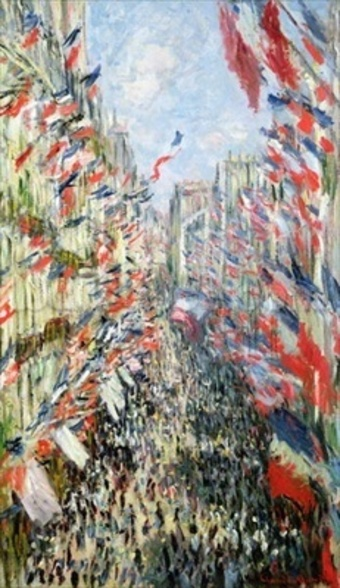 The Rue Montorgueil, Paris, Celebration of June 30, 1878 (oil on canvas) wallpaper mural