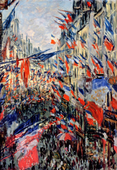 The Rue Saint-Denis, Celebration of June 30, 1878 (oil on canvas) wall mural