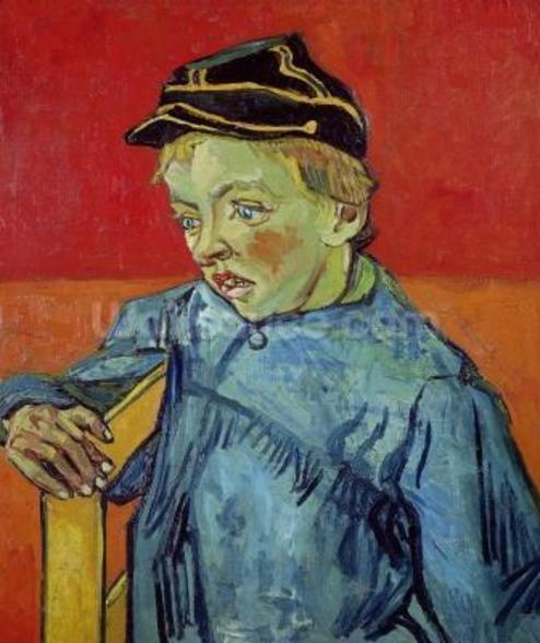 The Schoolboy, 1889-90 (oil on canvas) mural wallpaper