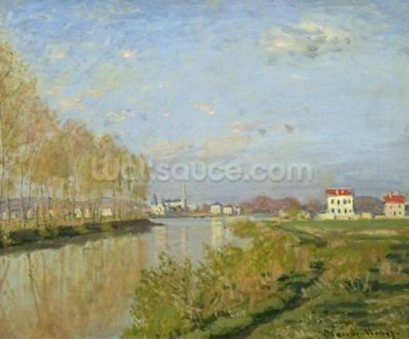 The Seine at Argenteuil, 1873 (oil on canvas) wallpaper mural