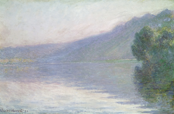 The Seine at Port-Villez, 1894 (oil on canvas) mural wallpaper