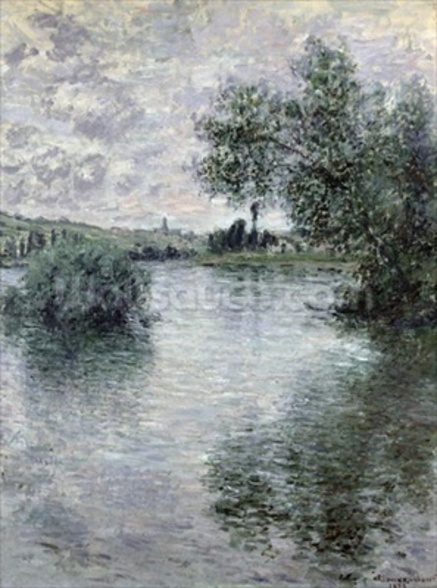 The Seine at Vetheuil, 1879 (oil on canvas) wall mural