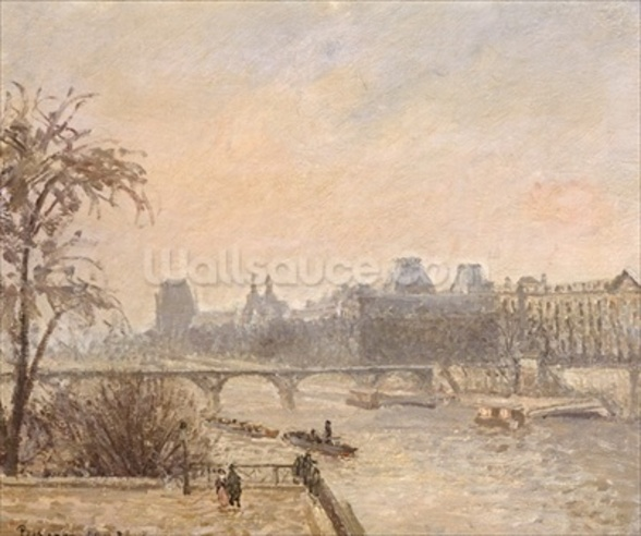The Seine and the Louvre, 1903 (oil on canvas) wallpaper mural