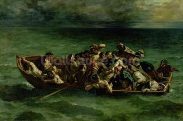 The Shipwreck of Don Juan, 1840 (oil on canvas) (see also 14443) wallpaper mural