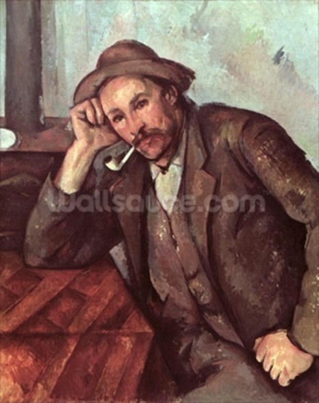 The Smoker, 1891-92 (oil on canvas) wallpaper mural
