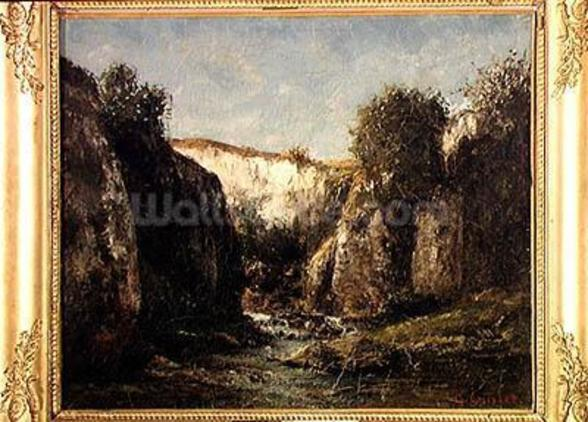 The Source of the Doubs, 1871 (oil on canvas) mural wallpaper
