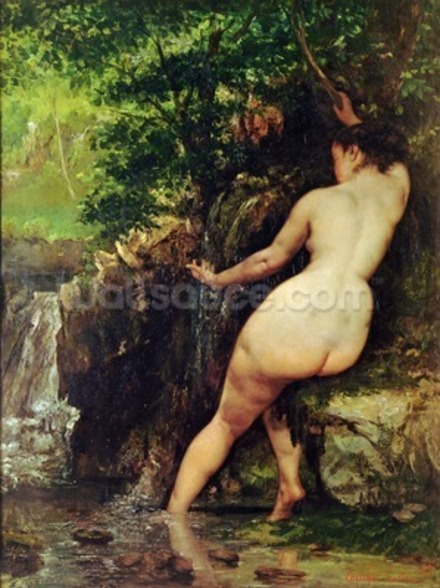 The Source or Bather at the Source, 1868 wallpaper mural
