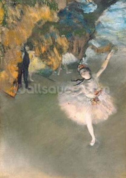 The Star, or Dancer on the stage, c.1876-77 (pastel on paper) mural wallpaper