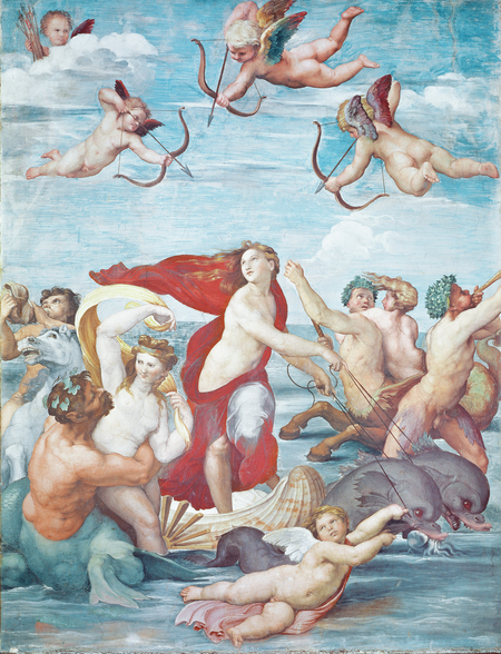 The Triumph of Galatea, 1512-14 (fresco) wallpaper mural