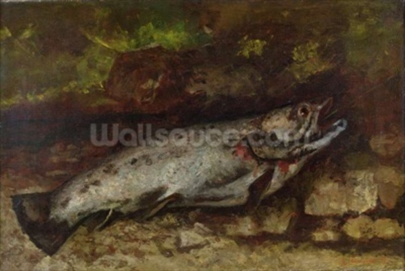 The Trout, 1873 (oil on canvas) wall mural