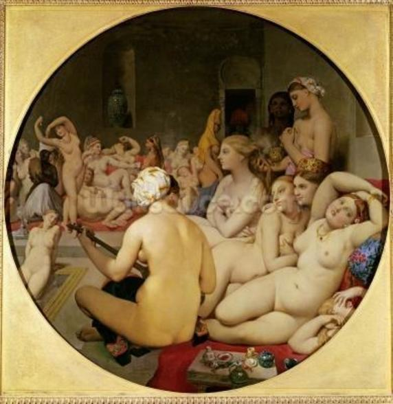 The Turkish Bath, 1863 (oil on canvas) (see also 429034) wall mural