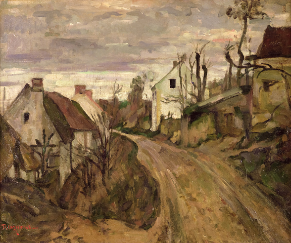 The Village Road, Auvers, c.1872-73 (oil on canvas) wall mural
