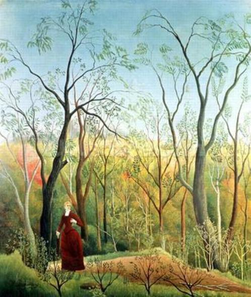The Walk in the Forest, 1886-90 (oil on canvas) wall mural