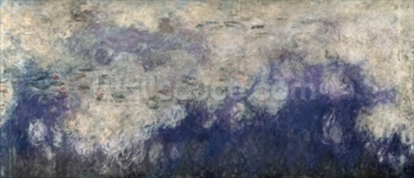 The Waterlilies - The Clouds (central section) 1915-26 (oil on canvas) (see also 64184 & 64186) wall mural