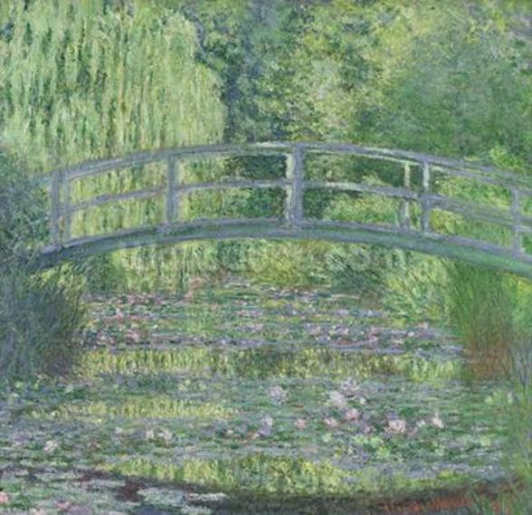 The Waterlily Pond: Green Harmony, 1899 (oil on canvas) wallpaper mural