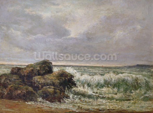 The Wave, 1869 (oil on canvas) wallpaper mural