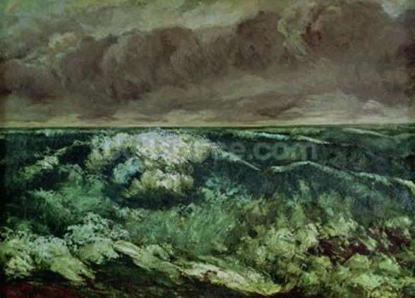 The Wave, after 1870 (oil on canvas) wall mural