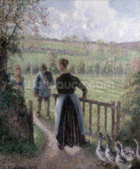 The Woman with the Geese, 1895 wall mural