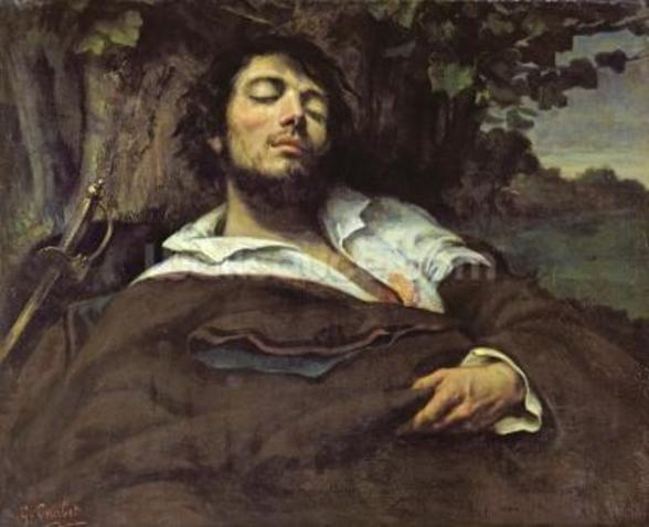 The Wounded Man (oil on canvas) (self portrait) mural wallpaper